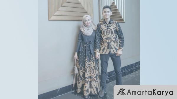 Gamis Couple Suami Istri Motif Batik