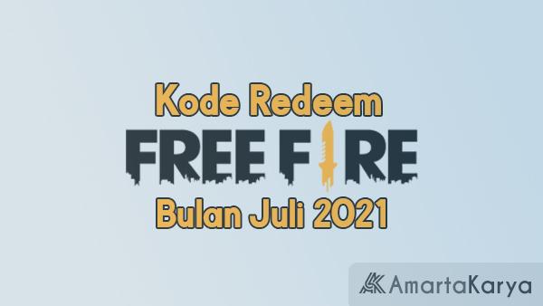 Kode Redeem FF bulan Juli 2021