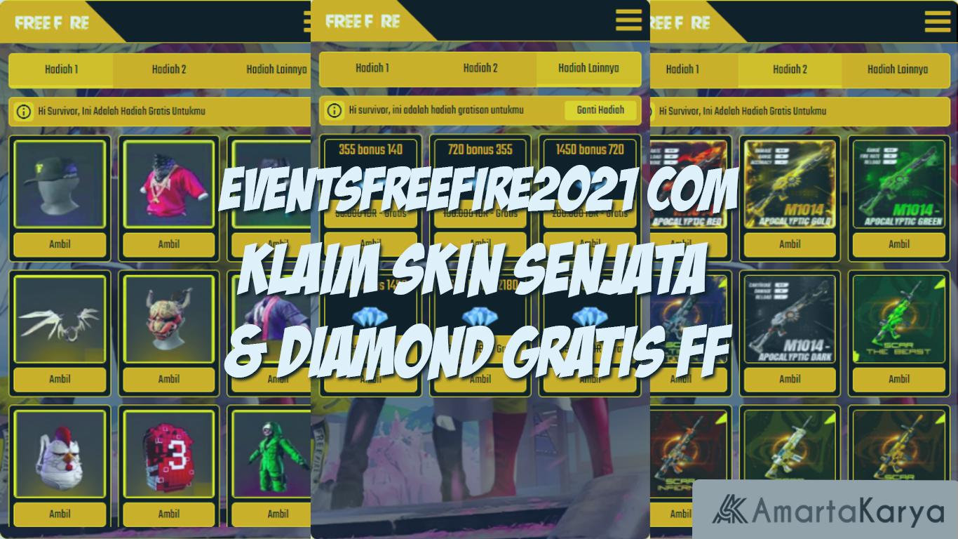 eventsfreefire2021 com klaim senjata diamond gratis ff